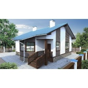 Проект каркасного дома из СИП-панелей Виктория 61 м2