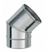 Колено дымоходное АТМОФОР утепленное нержавеющая сталь AISI 321 45 градусов 0,8 мм