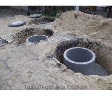 Установка септиков из бетонных колец