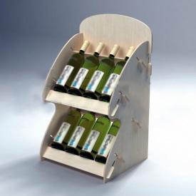 Стелаж Паоло для пляшок 715 мм