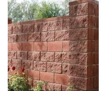 Блок декоративный для столба Золотой Мандарин М-200 двухсторонний скол 400х400х150 мм бордовый