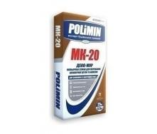 Кладочная смесь Polimin Деко-мур МК-20 25 кг коричневый