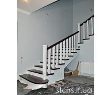 Лестница в американском стиле с дуба