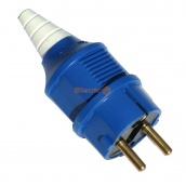 Вилка силовая переносная ElectrO РС-012 2Р+РЕ 16 А 250 В IP44