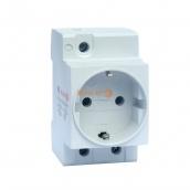 Розетка монтажна ElectrO РМ EU 1P+N+PE 16 230 В на DIN-рейку