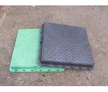 Люк пластиковый квадратный ф610 1 т 610x610 мм зеленый