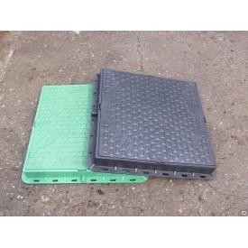 Люк пластиковий квадратний ф610 1 т 610x610 мм зелений