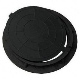 Люк полімерпіщаний легкий Л чорний 2 т 640 мм