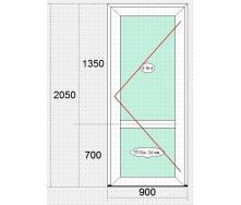 Двери входные металлопластиковые з ПВХ-профиля VEKA 100 ЕКО белые