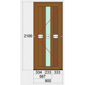 Двери металлопластиковые из ПВХ-профиля VEKA 105 коричневые