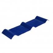 Многослойный кровельный лист Welltech ПВХ глянцевый 1200х1130 мм сигнально-синий