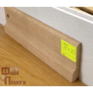Плинтус пристенный Файні Підлоги дуб 16х70 см