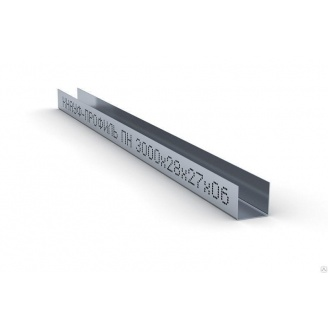 Профиль для гипсокартона Knauf UD 27/28/27 0,6 мм 4 м
