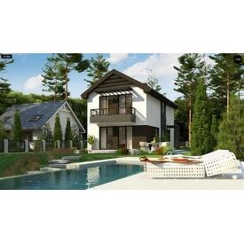 Строительство дома по проекту Флора Стандарт 14,7х6 м