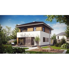 Строительство дома по проекту Купер Комфорт 7,4х10,3 м