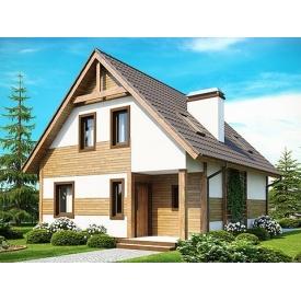 Строительство дома по проекту Брукс Комфорт 7,2х9 м