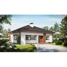 Строительство дома по проекту Меркурий Комфорт 11,7х10 м