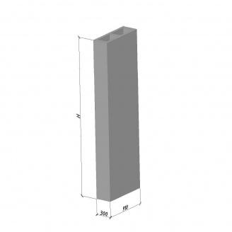 Вентиляционный блок ВБС-30 ТМ «Бетон от Ковальской» 630х300х2980 мм
