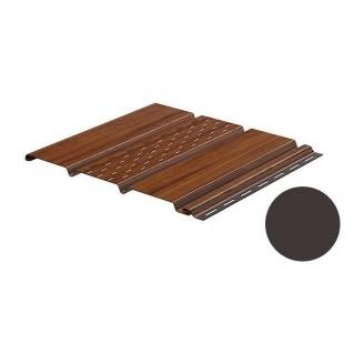 Софит Galeco перфорированный 295x4000 мм темно-коричневый