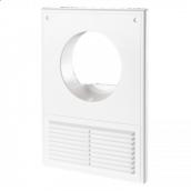 Кухонні вентиляційна решітка ДВ 100 КС пластик 250х180 мм біла