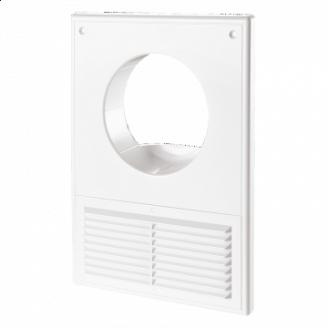 Кухонная вентиляционнаярешетка ДВ 100 КСпластик 250х180 мм белая
