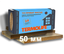 Базальтовая вата ТМ Termolife Приват Фасад 50 мм 115 кг/м3