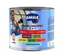 Эмаль-экспресс SMILE для крыш 3в1 антикоррозионная 0,8 кг синий