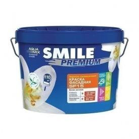 Краска фасадная SMILE SF-15 PREMIUM акрило-силиконовая 14 кг белый