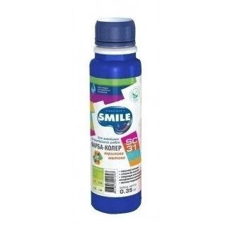 Краска-колер SMILE SC-31 акриловая матовая 0,35 кг ультрамарин