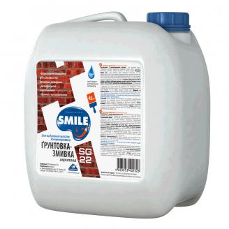 Грунтовка-смывка SMILE SG-22 для удаления высолов водно-дисперсионная 10 кг