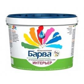 Краска интерьерная Барва SI-27 матовая 1,4 кг белый