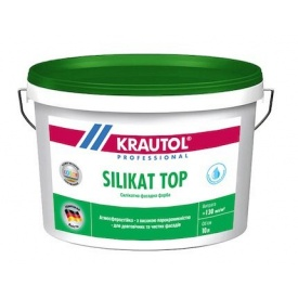 Фарба силікатна фасадна Krautol SILIKAT TOP В1 2,5 л