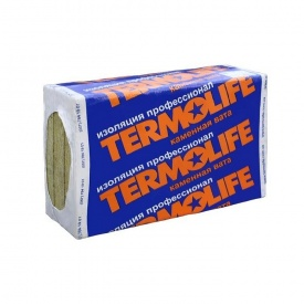 Базальтоваявата для утеплениякровли Termolife ТЛ ЭкоЛайт 30 кг/м3 100х600х1000 мм