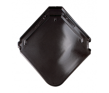 Черепица Braas Изумруд Глазурь 475х433 мм черный хрусталь