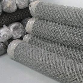 Сетка рабица оцинкованная 1,7 мм 5х5 см 1,5х10 м