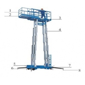 Персональний телескопічний підйомник 125 кг