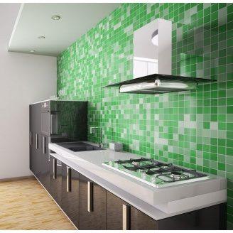 Отделка кухни керамической мозаикой
