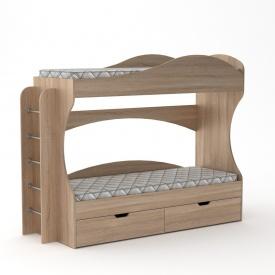 Двох'ярусне ліжко Компаніт Бриз 1670х2092х744 мм дуб-сонома