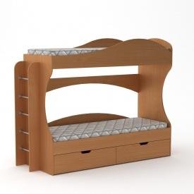 Двох`ярусне ліжко Компаніт Бриз 1670х2092х744 мм дсп бук