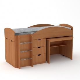 Детская кровать Универсал Компанит 1060х1942х892 мм ольха