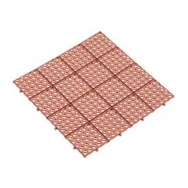 Газонна решітка Альта-Профіль універсальна 10,5 мм 333х333 мм коричневий