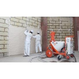 Машинное оштукатуривание стен
