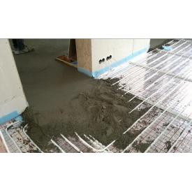 Обустройство цементно-песчаной стяжки с армированием 60 мм