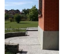 Тротуарная плитка Золотой Мандарин Меланж Кирпич 200х100х60 мм бисер