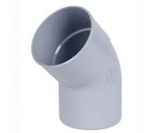Отвод Nicoll 33 45 градусов 100 мм белый