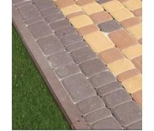 Поребрик Золотой Мандарин 500х200х60 мм на сером цементе коричневый