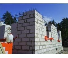 Кладка наружных стен из газобетонных блоков