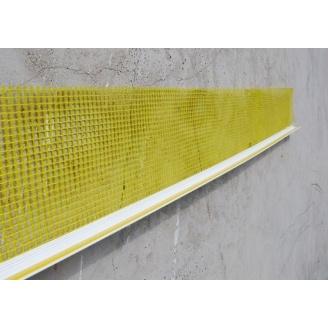 Оконный профиль примыкающий с манжетой и сеткой 3 мм 2,4 м белый