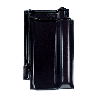 Черепица Braas Рубин 13V Глазурь 435х276 мм кристально-черный