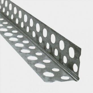 Уголок для мокрой штукатурки оцинкованный крашеный 36х36 мм 3 м